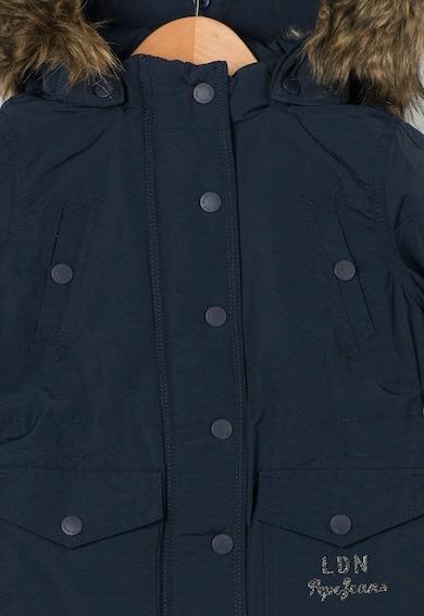 Pepe Jeans London Geaca cu vatelina si garnituri de blana ecologica Jema Fete