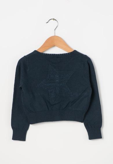 Pepe Jeans London Детска тъмносиня жилетка с джобове отпред Момичета