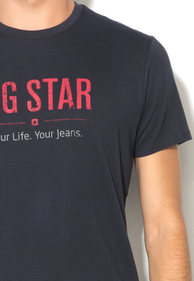 Big Star Tengerészkék Póló Logóval férfi
