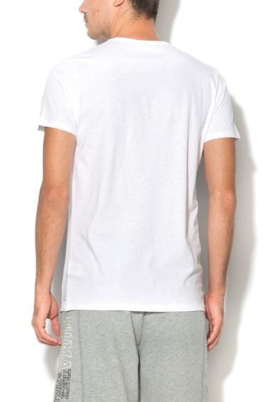 Big Star Бяла тениска с овално деколте Мъже