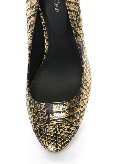 Calvin Klein Кожени обувки с ток и шагрен Жени