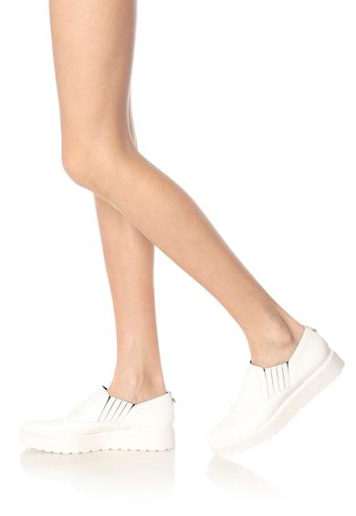Calvin Klein Vikki Fehér Bebújós Bőrcipő női