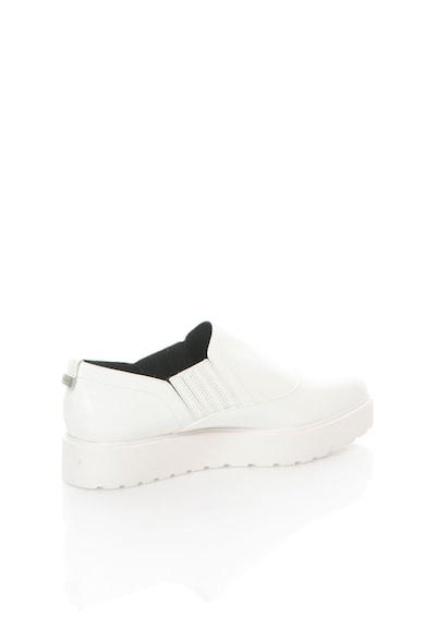 Calvin Klein Бели кожени обувки на равна платформа Жени