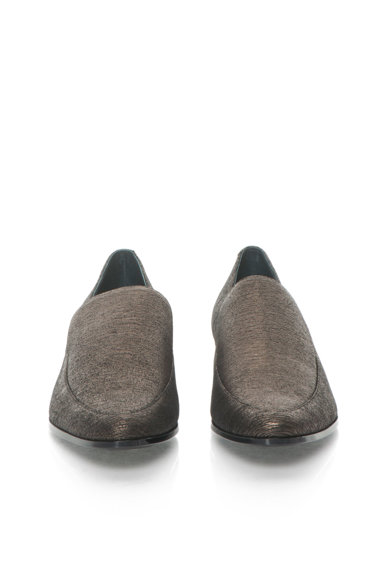 Calvin Klein Велурени мокасини в сребристо E2549 Жени