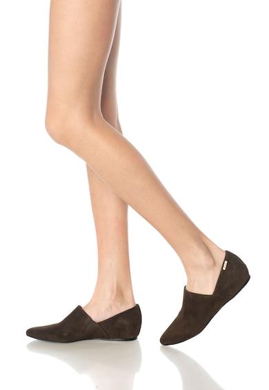 Calvin Klein Balerini maro cafea de piele intoarsa Magna Femei