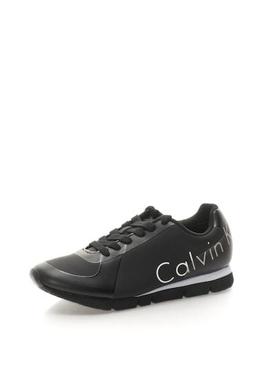 Calvin Klein Jeans Tenisi negri cu imprimeu logo Jack Barbati