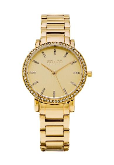 SO&CO New York Дамски часовник  Madison, Златист с кристали,  Жени