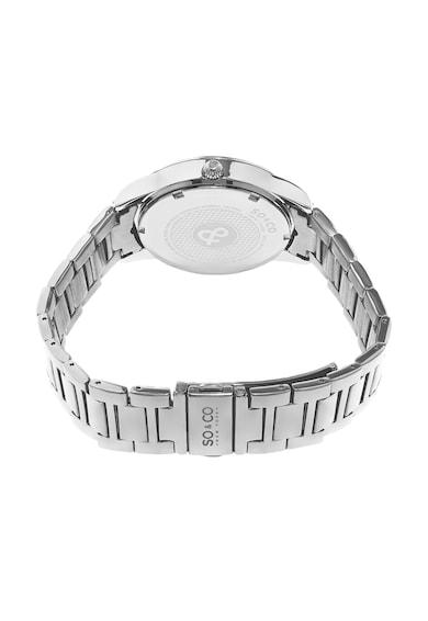 SO&CO New York Ceas argintiu cu cristale Madison Femei