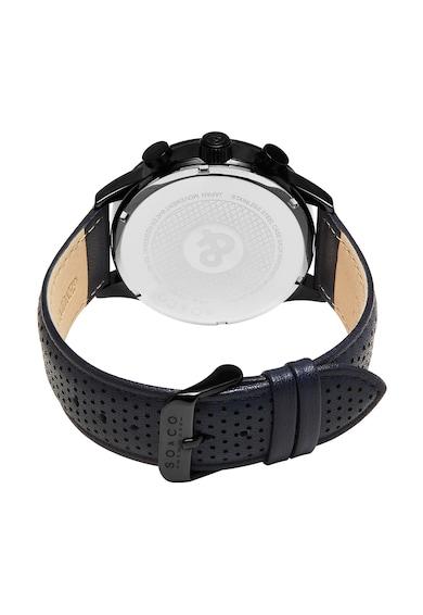 SO&CO New York Ceas cronograf negru cu bleumarin Monticello Barbati