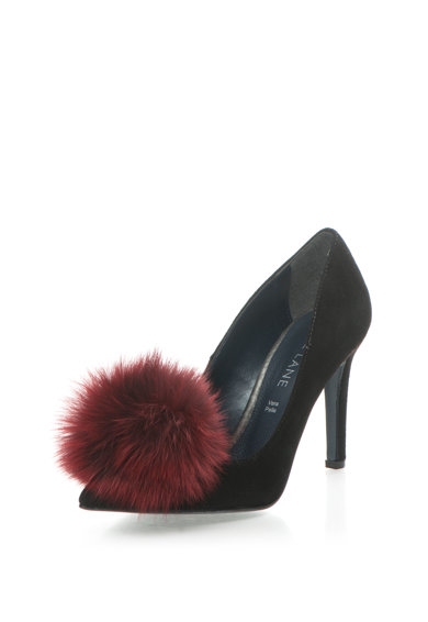 Zee Lane Pantofi stiletto negri de piele intoarsa Anne Femei