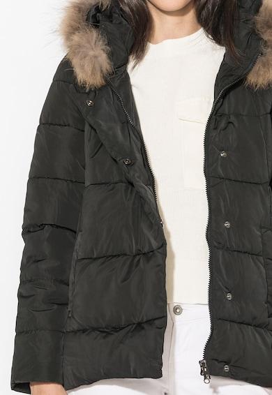 Zee Lane Denim Jacheta neagra cu vatelina si garnitura din blana sintetica Femei
