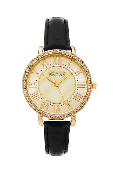 SO&CO New York Часовник с кожена каишка Жени