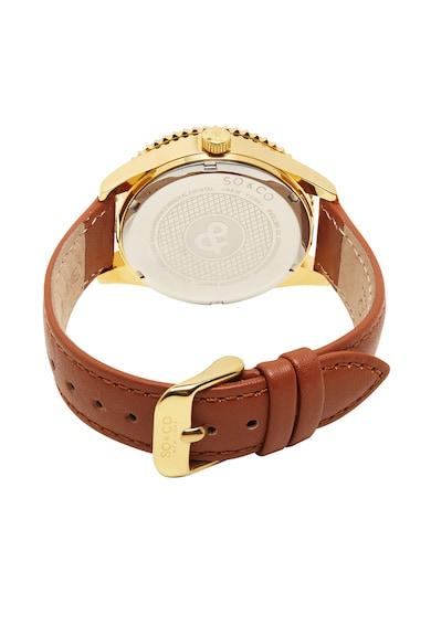 SO&CO New York Часовник с кожена каишка и кристали Жени