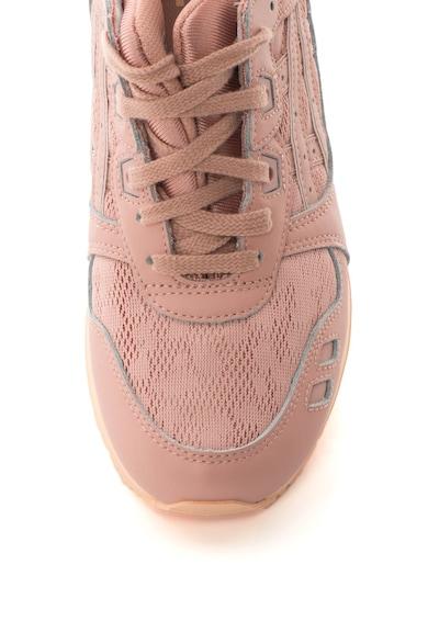 Asics Pantofi de piele peliculizata cu insertie de plasa, pentru alergare, Gel Lyte III Femei