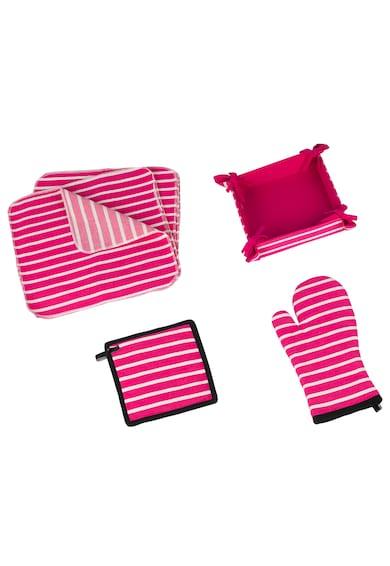Heinner Home konyhai készlet, 15 darabos, pamut, rózsaszín férfi