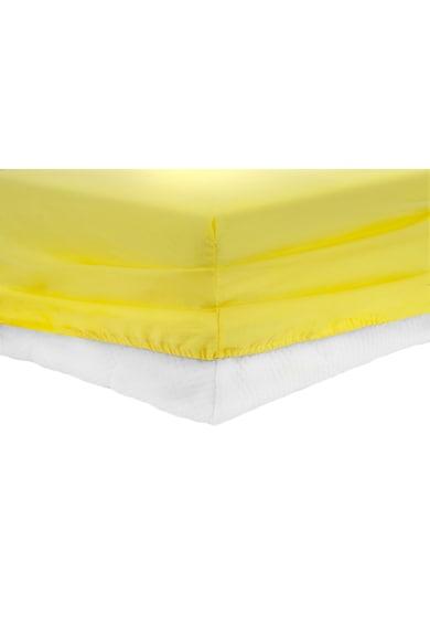 Heinner Home Долен чаршаф с ластик  Памук, Жълт Жени