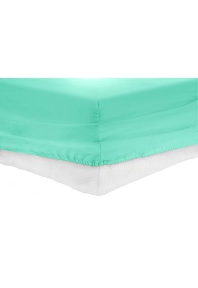 Heinner Home Cearceaf de pat cu elastic  bumbac, Turcoaz Femei
