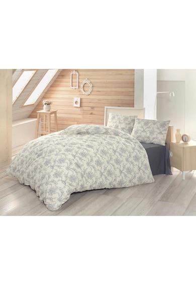 Home Still Lenjerie de pat pentru doua persoane Evim Floria Antrasit  bumbac Femei