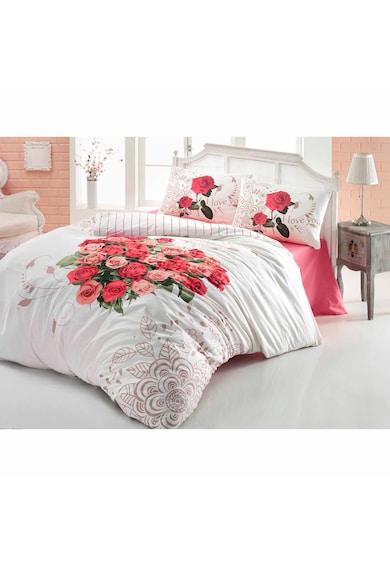 Home Still Lenjerie de pat pentru doua persoane Evim Love Rose Kirmizi  bumbac Femei