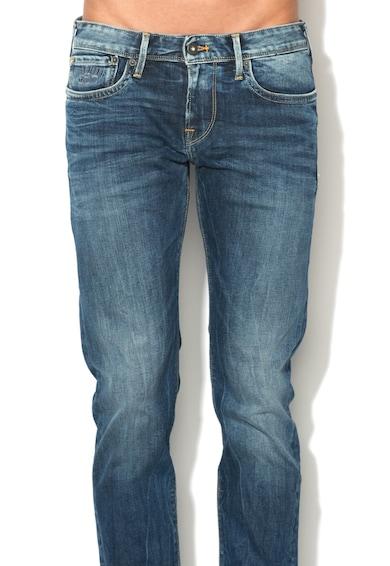 Pepe Jeans London Blugi slim fit cu aspect decolorat Hatch Barbati