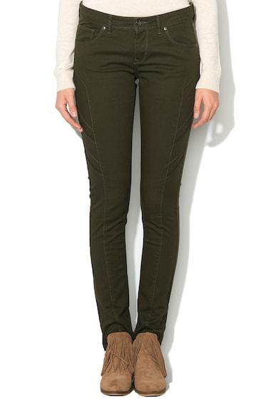 BIG STAR Pantaloni slim fit verde militar Femei