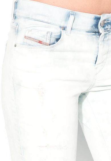 Diesel Светлосини прави дънки със захабен ефект Жени