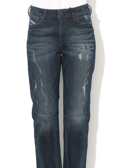 Diesel Jeansi bleumarin regular fit cu aspect uzat Reen Femei