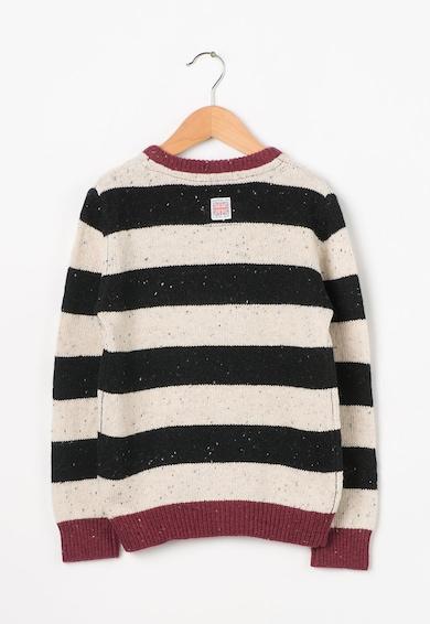 Pepe Jeans London Детски раиран пуловер в черно и бежово Момчета