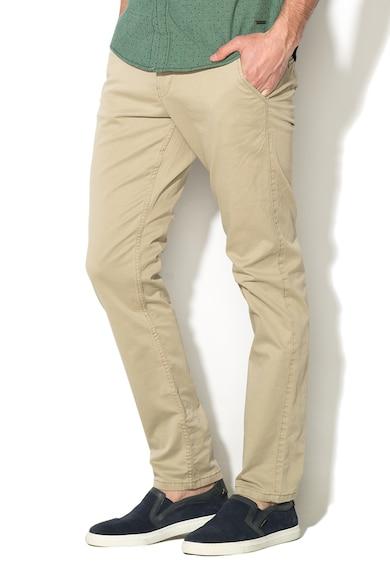 EDC by Esprit Pantaloni chino slim fit cu o curea de piele detasabila Barbati