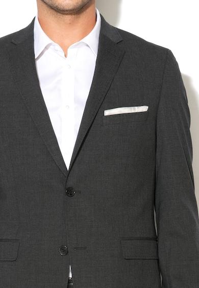 Esprit Тъмносиво сако с необработена вълна Мъже