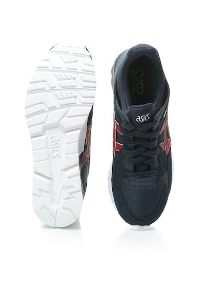 Asics Unisex Sötétkék&Piros Sportcipő Nyersbőr Szegélyekkel női
