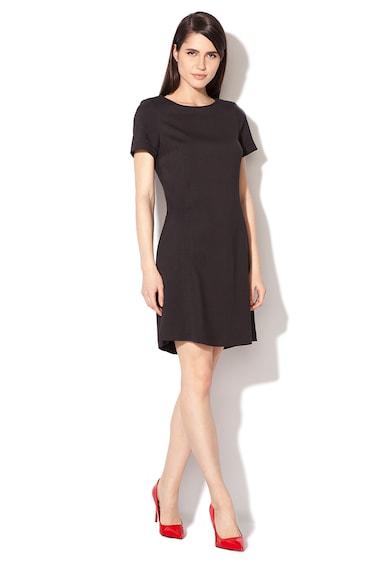 Esprit Черна рокля с къси ръкави Жени