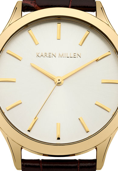 Karen Millen Ceas maro inchis cu auriu Femei
