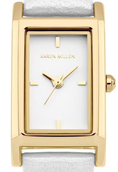 Karen Millen Ceas alb cu auriu Femei