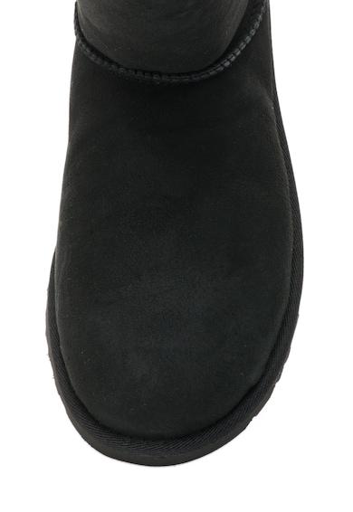 UGG Australia, Bailey Fekete Nyersbőr Rövid Szárú Csizma Gombokkal női