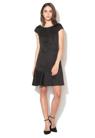 Esprit Черна разкроена рокля Жени