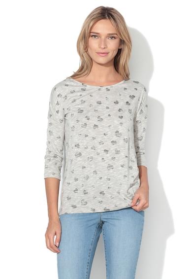 Vero Moda Блуза в сив меланж с шарка на сърца Жени