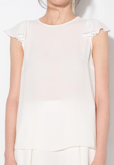 Zee Lane Collection Bluza semitransparenta alba vaporoasa Femei