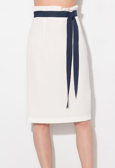 Zee Lane Collection Fusta creion alb prafuit cu panglici bleumarin Femei