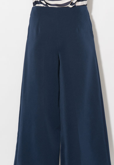 Zee Lane Collection Pantaloni culotte bleumarin cu buzunare Femei