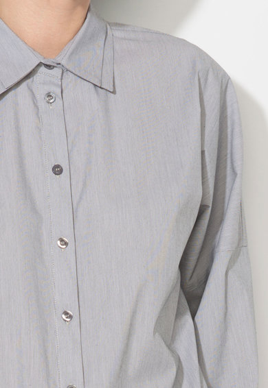 Zee Lane Denim Camasa alb cu gri inchis si dungi discrete Femei