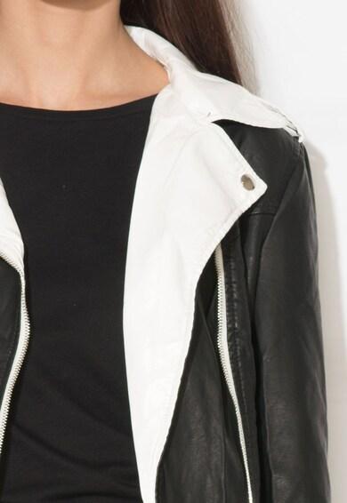 Zee Lane Denim Яке в черно и бяло от изкуствена кожа Жени