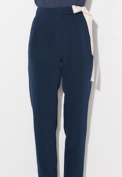 Zee Lane Collection Pantaloni bleumarin conici cu talie inalta Femei