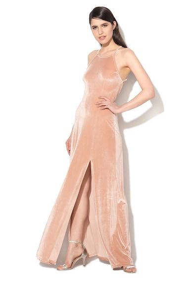 Glamorous Halvány Rózsaszín Bársonyos Ruha női