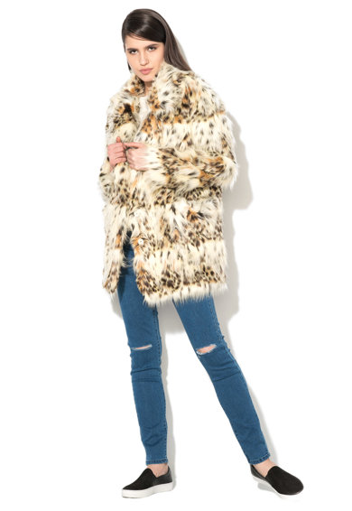 Glamorous Jacheta multicolora de blana sintetica Femei