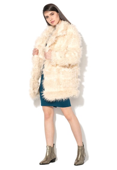 Glamorous Halványbézs Irha Hatású Kabát női