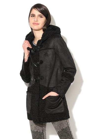 Glamorous Fekete Irha Hatású Kabát női