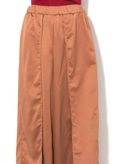 Glamorous Fusta-pantalon maro acaju de satin cu slit adanc Femei