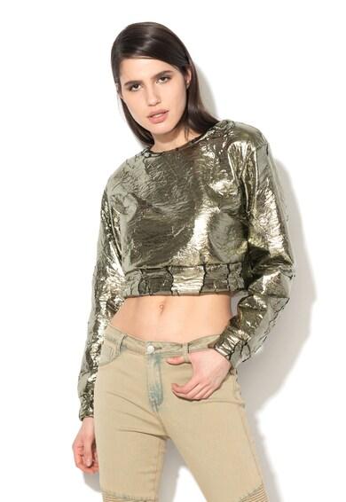 Glamorous Fémszürke Crop Blúz női