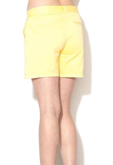 Pepe Jeans London Pantaloni scurti galbeni din denim cu buline Sita Femei